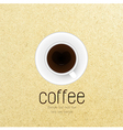 coffee cup against paper background vector image vector image