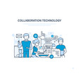 collaboration technology cooperation vector image vector image