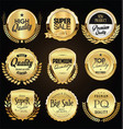 collection retro gold and black badge and vector image vector image
