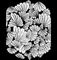 coloring book white picture leaves flowers vector image vector image