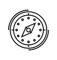 compass line icon concept sign outline vector image