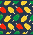 cute and colorful ice cream popsicles pattern vector image vector image