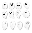 Cute ghosts on white background vector image