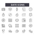 date line icons for web and mobile design vector image vector image