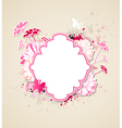 Decorative background with pink flowers vector image vector image