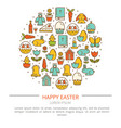 easter with your text vector image vector image
