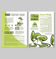 ecology and environment protection poster design vector image vector image