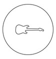 electric guitar black icon in circle outline vector image vector image