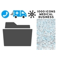 Folder Icon with 1000 Medical Business Pictograms vector image vector image