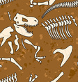 Fossil dinosaur seamless pattern Bones of vector image vector image