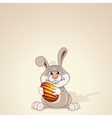 Funny Easter Bunny with Painted Egg vector image