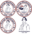 George Washington stamps vector image vector image