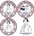 George Washington stamps vector image