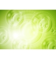 Green shiny tech background vector image vector image