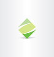 green square logo letter z logotype z icon vector image