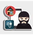 hacker criminal information icon vector image