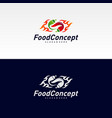 hot food logo concept red chili logo design vector image vector image