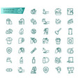 hygiene and cleanliness icons set vector image vector image