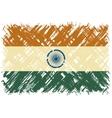 Indian grunge flag vector image