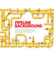 industrial yellow pipeline pipeline frame yellow vector image vector image