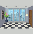 interior of room in high rise apartment vector image
