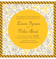 Invitation card yellow with hand drawn background vector image vector image