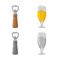 isolated object of pub and bar sign collection of vector image vector image