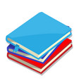 isolated of books vector image