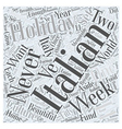 italian holiday Word Cloud Concept vector image vector image