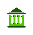 Law court bank house symbol justice finance icon vector image vector image