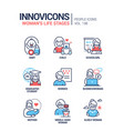 life stages a woman - line design style icons vector image vector image