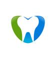 love dental care blue green symbol design vector image