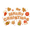 merry christmas backgrounds cartoon vector image