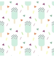 Mint ice cream seamless pattern vector image
