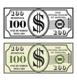 money banknote two style black and colored vector image vector image
