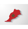 Morocco map with shadow effect vector image vector image