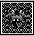 pattern bandana skull vector image vector image