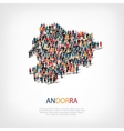 people map country Andorra vector image vector image