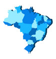 political map of brazil vector image