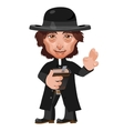 Preacher in Wild West cartoon character vector image vector image