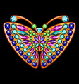 precious brooch in form a butterfly vector image vector image
