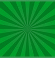 ray retro background green colored rays stylish vector image vector image