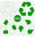 recycle symbol conservation green icon set vector image