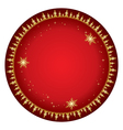 red background with gold decor - christmas vector image