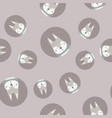 scandinavian seamless pattern with gray rabbit vector image vector image