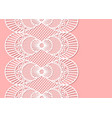 seamless decorative lace border on pink background vector image vector image