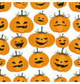 seamless pattern funny pumpkins halloween vector image vector image