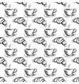 seamless pattern hand drawn cup coffee and vector image vector image