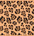 seamless pattern with jaguar skin endless vector image