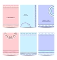 Set of abstract colorful brochure templates vector image